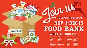 Food Bank Donation Concept Banner