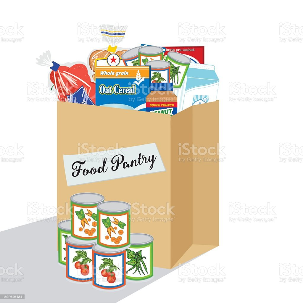 royalty free food pantry clip art vector images illustrations rh istockphoto com food bank clipart