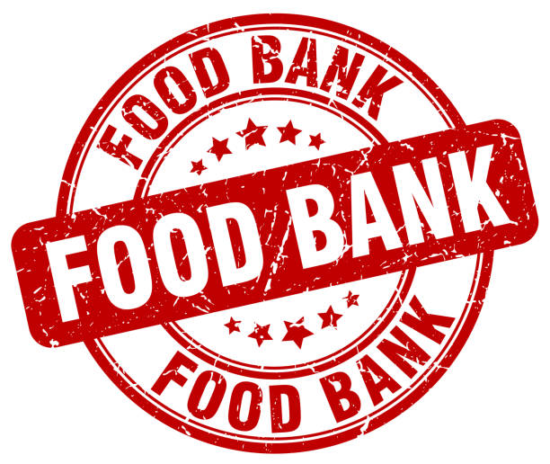 food bank red grunge round vintage rubber stamp food bank red grunge round vintage rubber stamp food bank stock illustrations