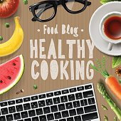 Food blog, healthy cooking recipes online