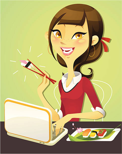 food blogger - chihhang stock illustrations