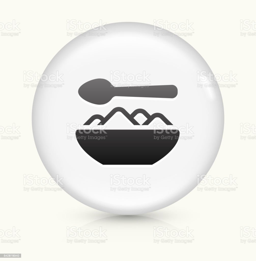 Food Bowl icon on white round vector button vector art illustration