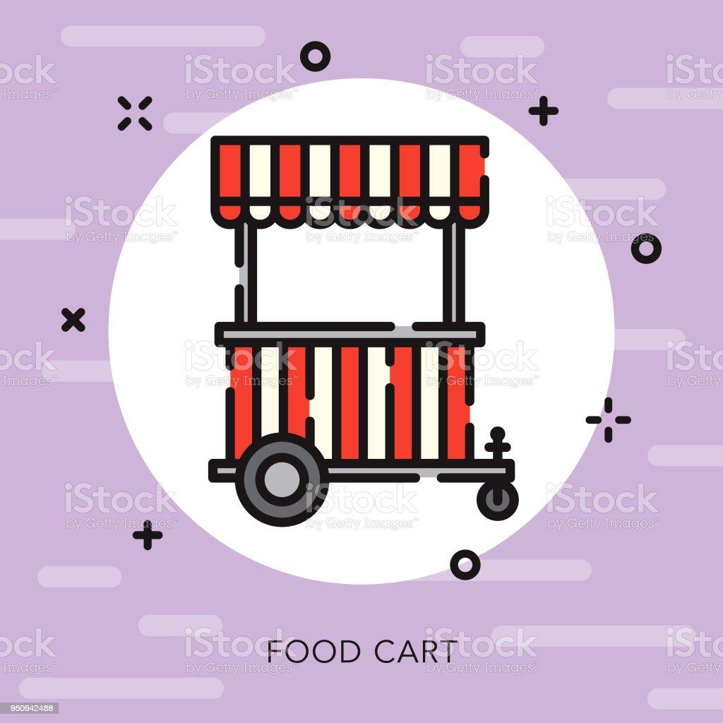 Essen Warenkorbsymbol Offene Kontur Street Food Stock Vektor Art und ...