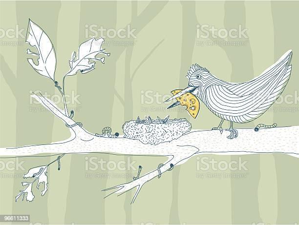 Пищевая Цепь — стоковая векторная графика и другие изображения на тему Птичье гнездо