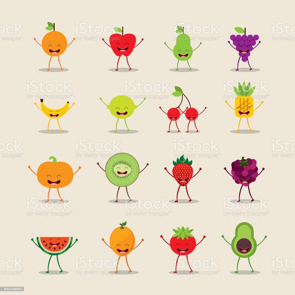 food character design vector art illustration