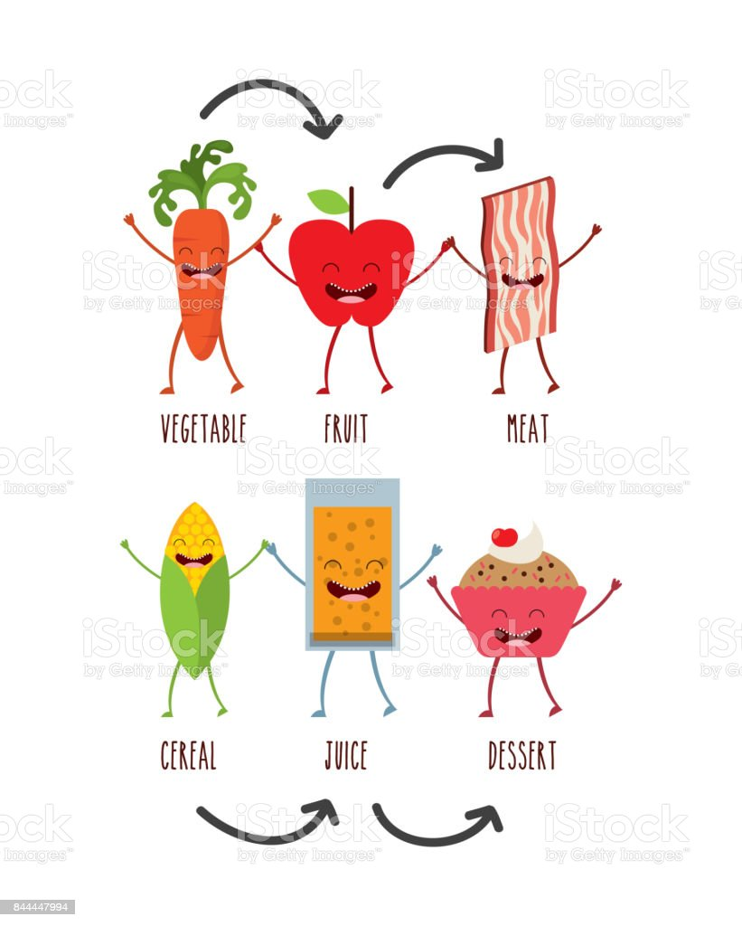 food character design vector art illustration
