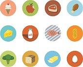 Food Circle Icons