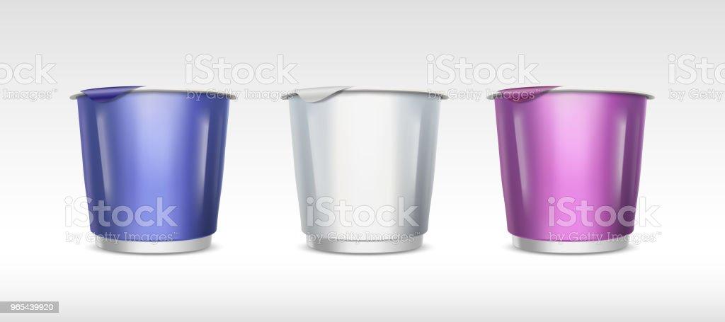 Food container cup set food container cup set - stockowe grafiki wektorowe i więcej obrazów bez ludzi royalty-free