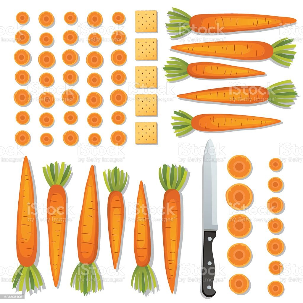 Food Cooking Flat Lay On A Bright Background
