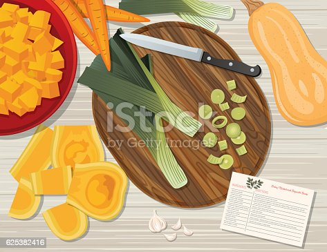 istock Food Cooking Flat Lay On A Wood Background 625382416