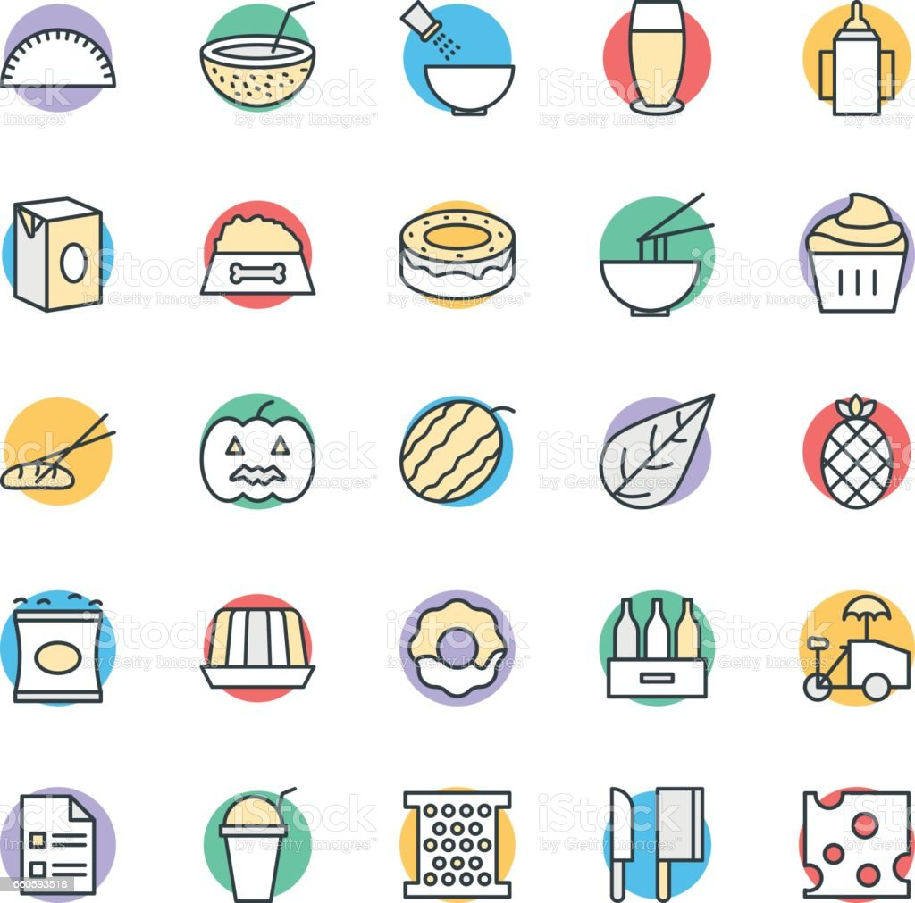 Food Cool Vector Icons 12 royalty-free food cool vector icons 12 stock vector art & more images of asian food