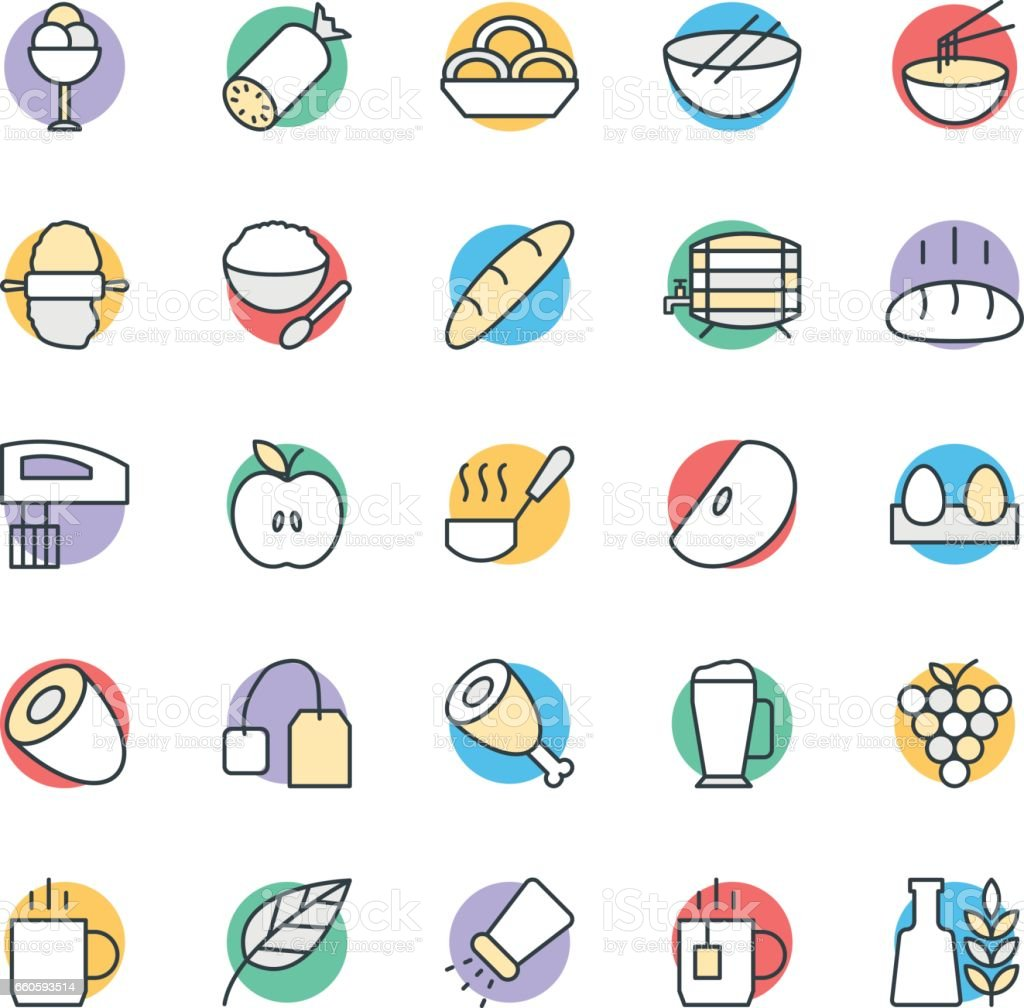 Food Cool Vector Icons 7 royalty-free food cool vector icons 7 stock vector art & more images of apple - fruit