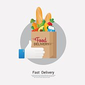 Food delivery  business concept design.Vector illustration.