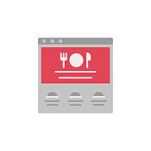 Food delivery, eat, food, restaurant, shop, website color icon