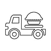 Food delivery icon - Well organized and editable Vector design using in commercial purposes, print media, web or any type of design projects.