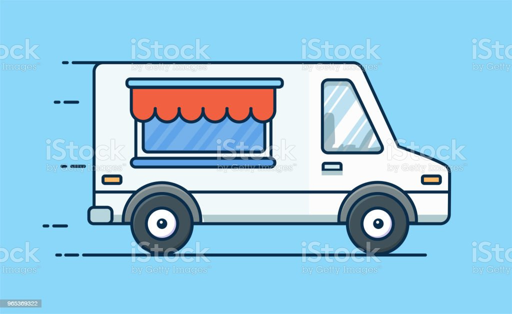 Food delivery. Picnic car. Truck with food. Food van. Vector flat illustration royalty-free food delivery picnic car truck with food food van vector flat illustration stock vector art & more images of archival