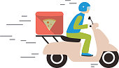 food delivery with motorcycle