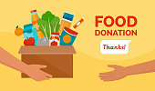 istock Food donation and charity 1224414210