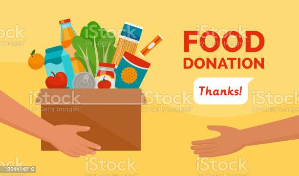 Food Donation And Charity Stock Illustration - Download Image Now