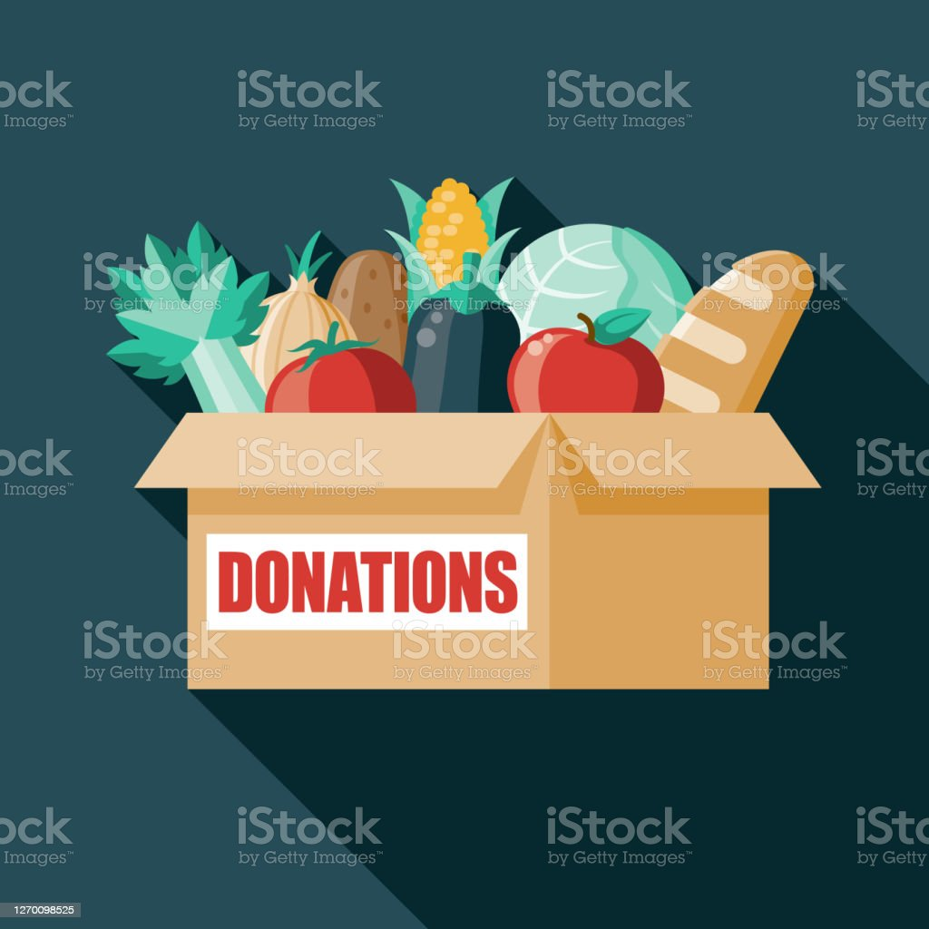 Caja de donación de alimentos - arte vectorial de Alimento libre de derechos