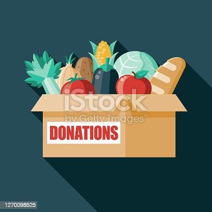 istock Food Donation Box 1270098525