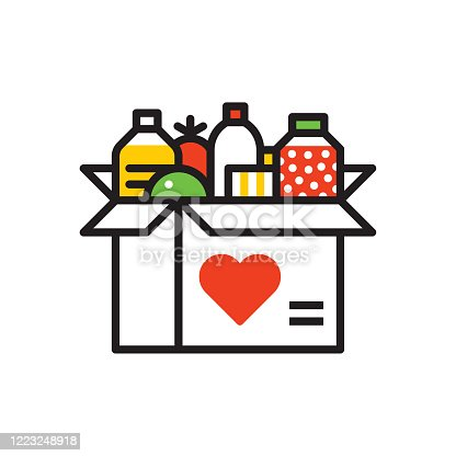 istock Food donation icon 1223248918