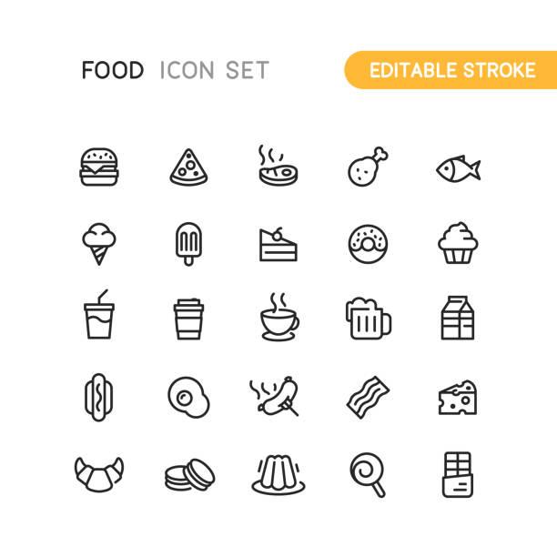 ilustrações, clipart, desenhos animados e ícones de ícones do contorno de comida & bebida - tea drinks
