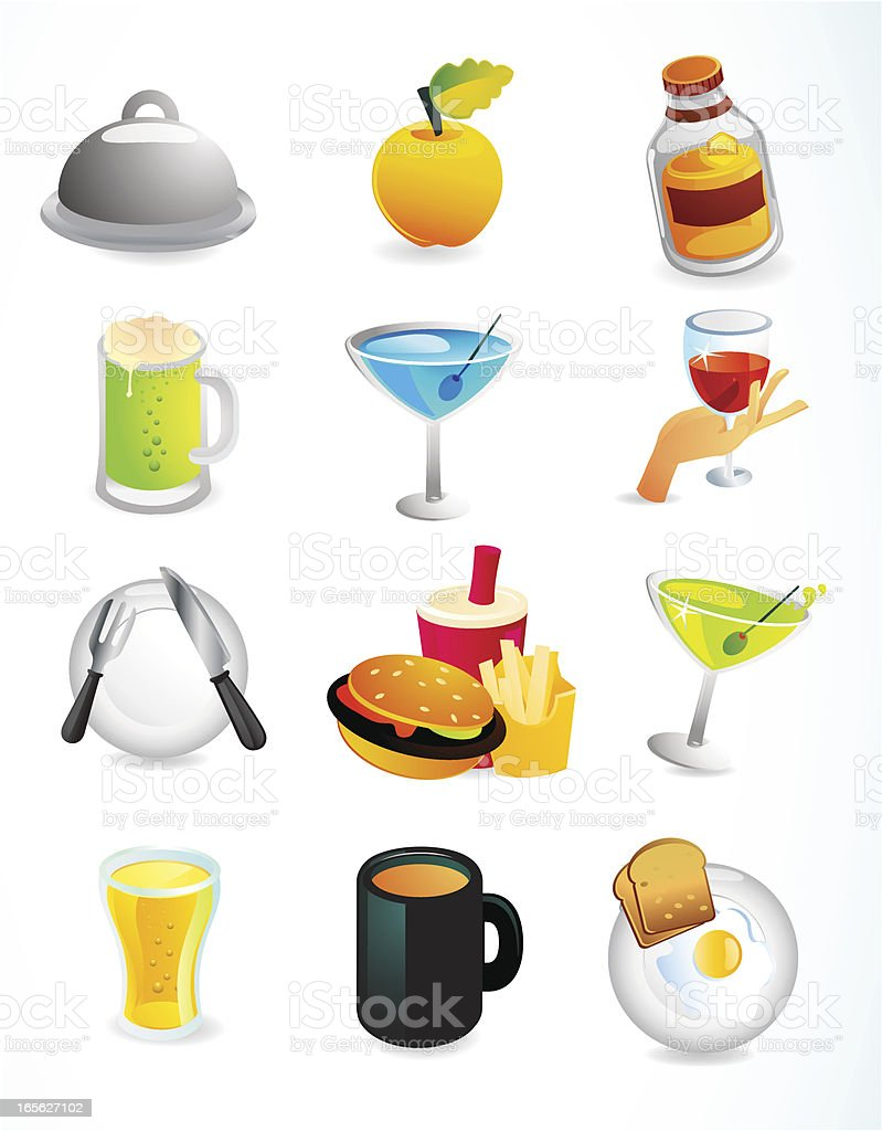 Food & Drink Web Icons royalty-free stock vector art