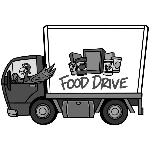 ilustraciones, imágenes clip art, dibujos animados e iconos de stock de ilustración de unidad de alimentos - food drive