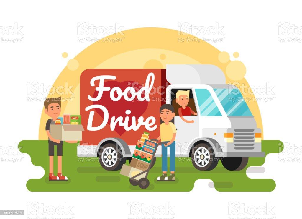 Food Drive non perishable food charity movement
