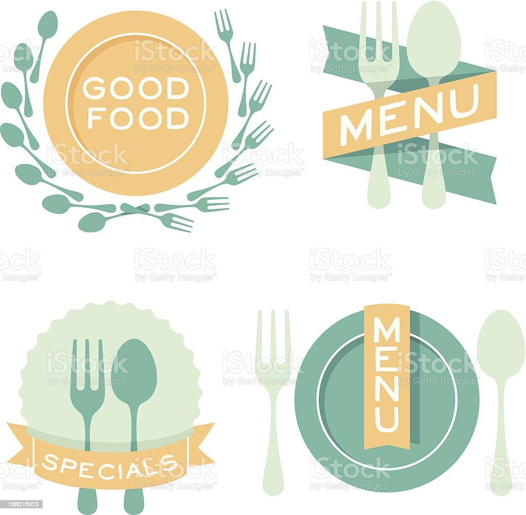Food Eating Symbols vector art illustration