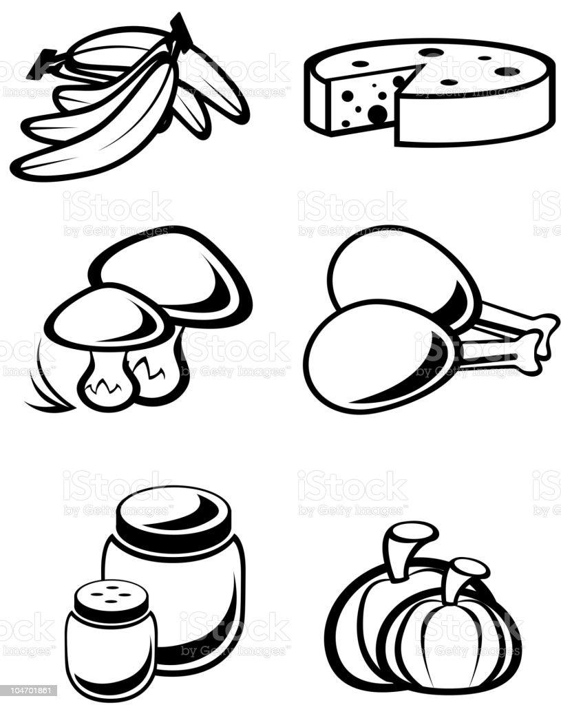Food elements royalty-free stock vector art