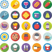 Food Flat Vector Icons 6