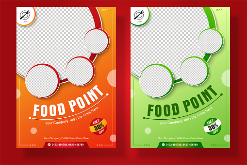 Food Flyer A4 size Vector Template for Social Media Post or promotion