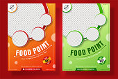 Food Flyer A4 size Vector Banner Template for Poster, leaflet or pamphle ready to print for Social Media Post or promotional Advertise.