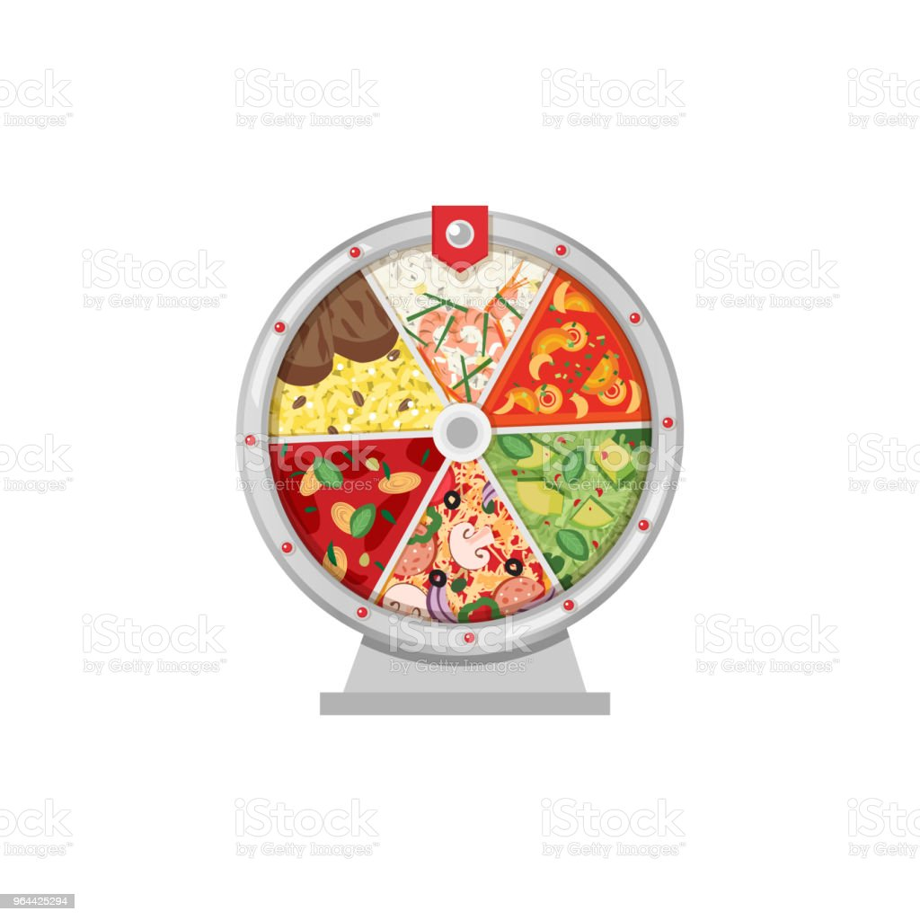 Roda da fortuna de comida - Vetor de Alimentação Saudável royalty-free