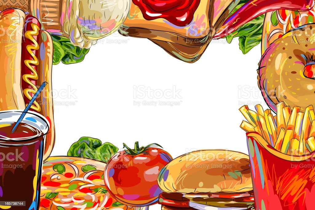 Food Frame Stock Vector Art & More Images of Art And Craft ...