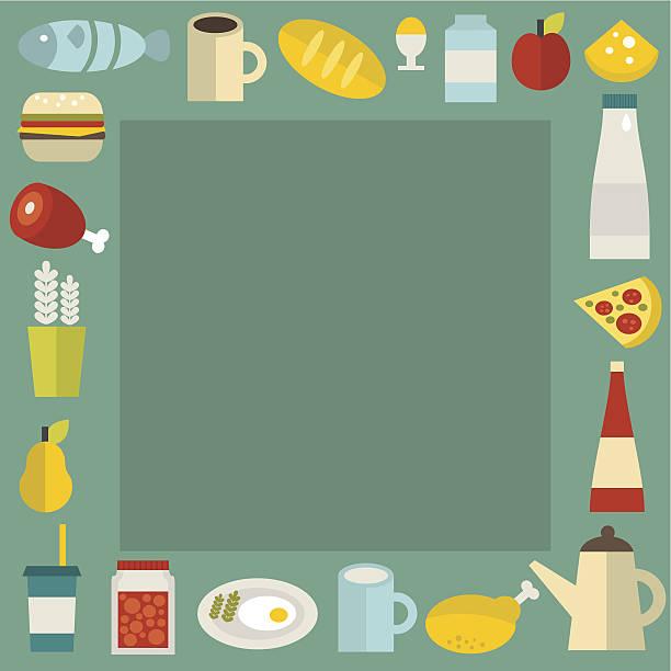 food rahmen. - pflaumenkuchen stock-grafiken, -clipart, -cartoons und -symbole