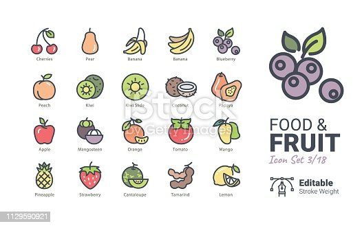 Food & Fruit vector icons