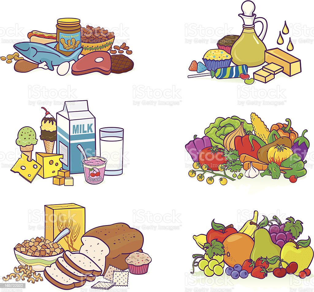 Food Groups Stock Vector Art & More Images of Apple ...