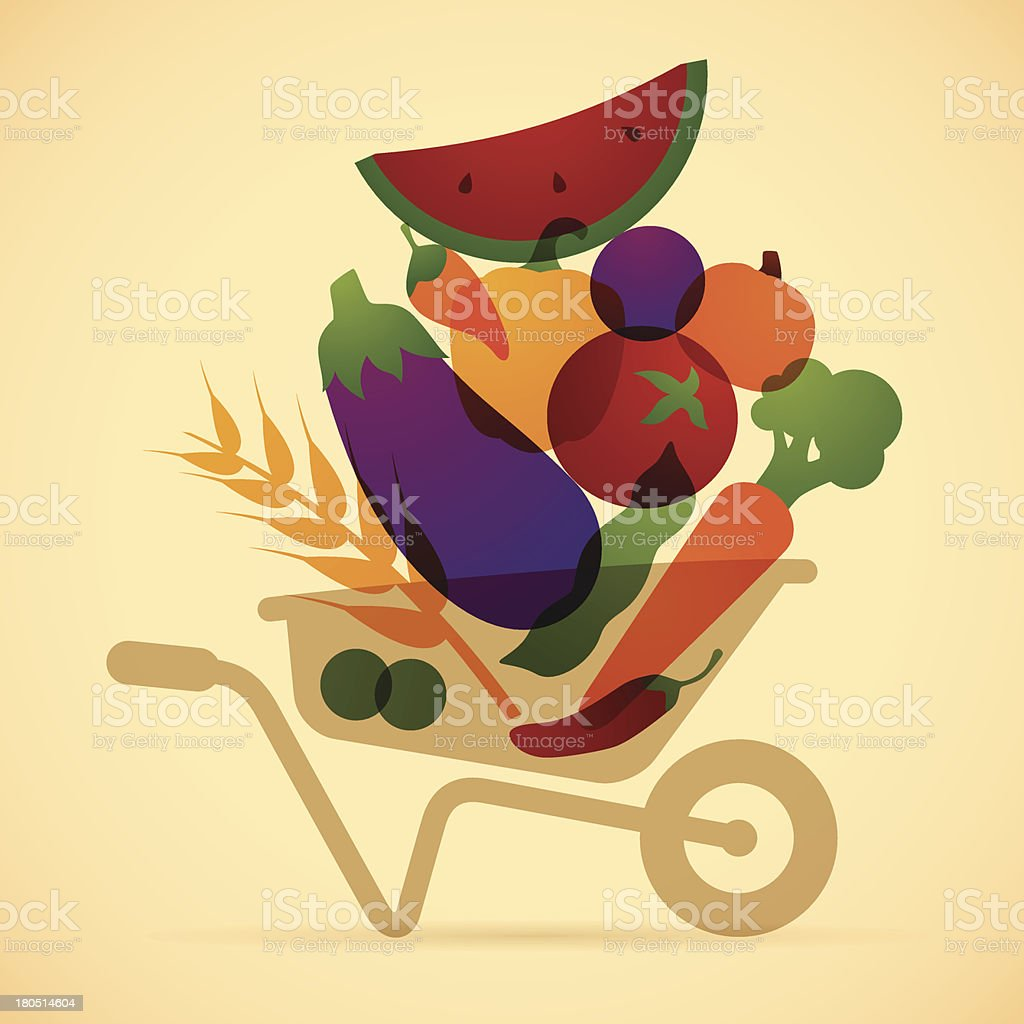 Food Harvest royalty-free food harvest stock vector art & more images of autumn