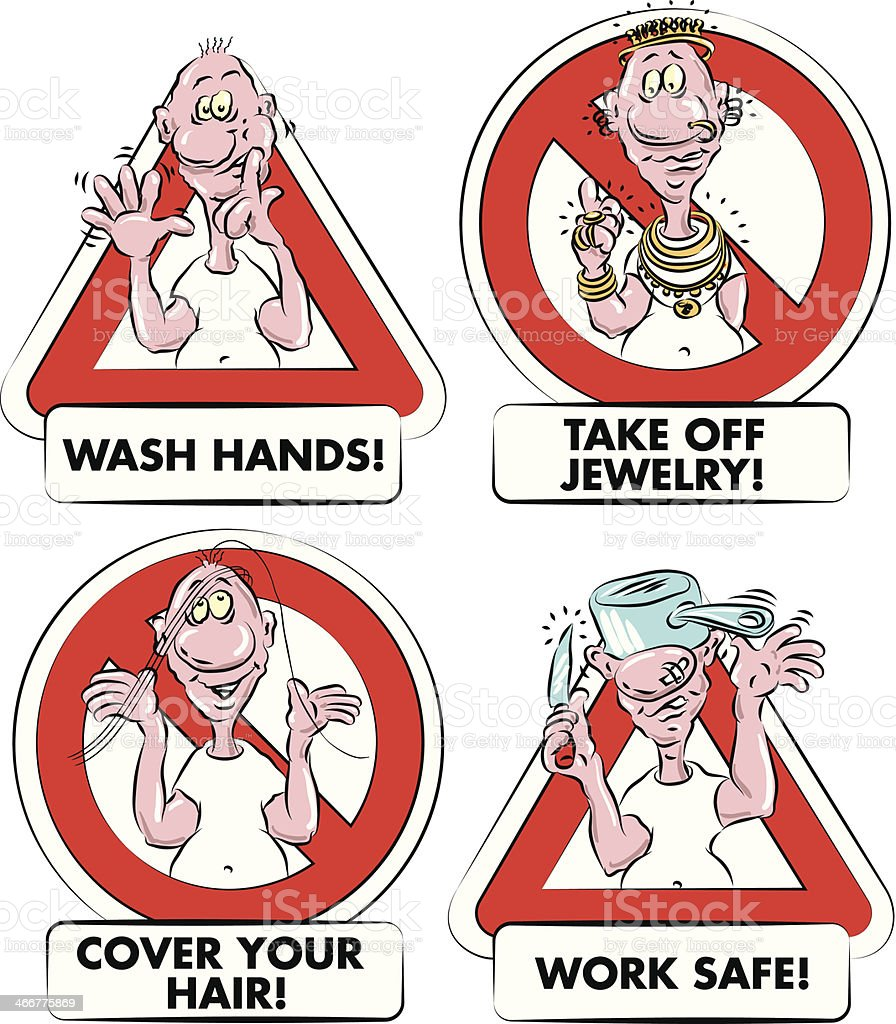 Food Hygiene Signs Stock Illustration - Download Image Now ...