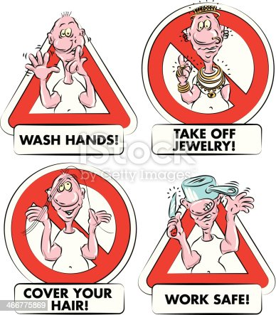 Food Hygiene Signs Stock Vector Art & More Images of Adult ...
