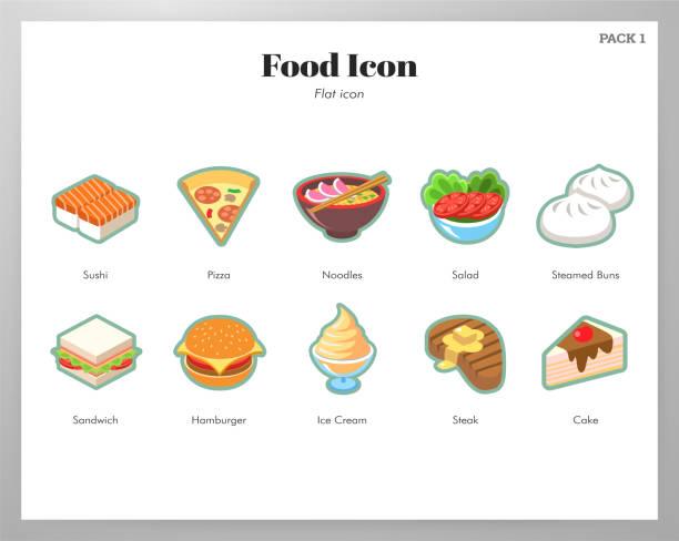 ilustraciones, imágenes clip art, dibujos animados e iconos de stock de icono de comida paquete plano - leftovers