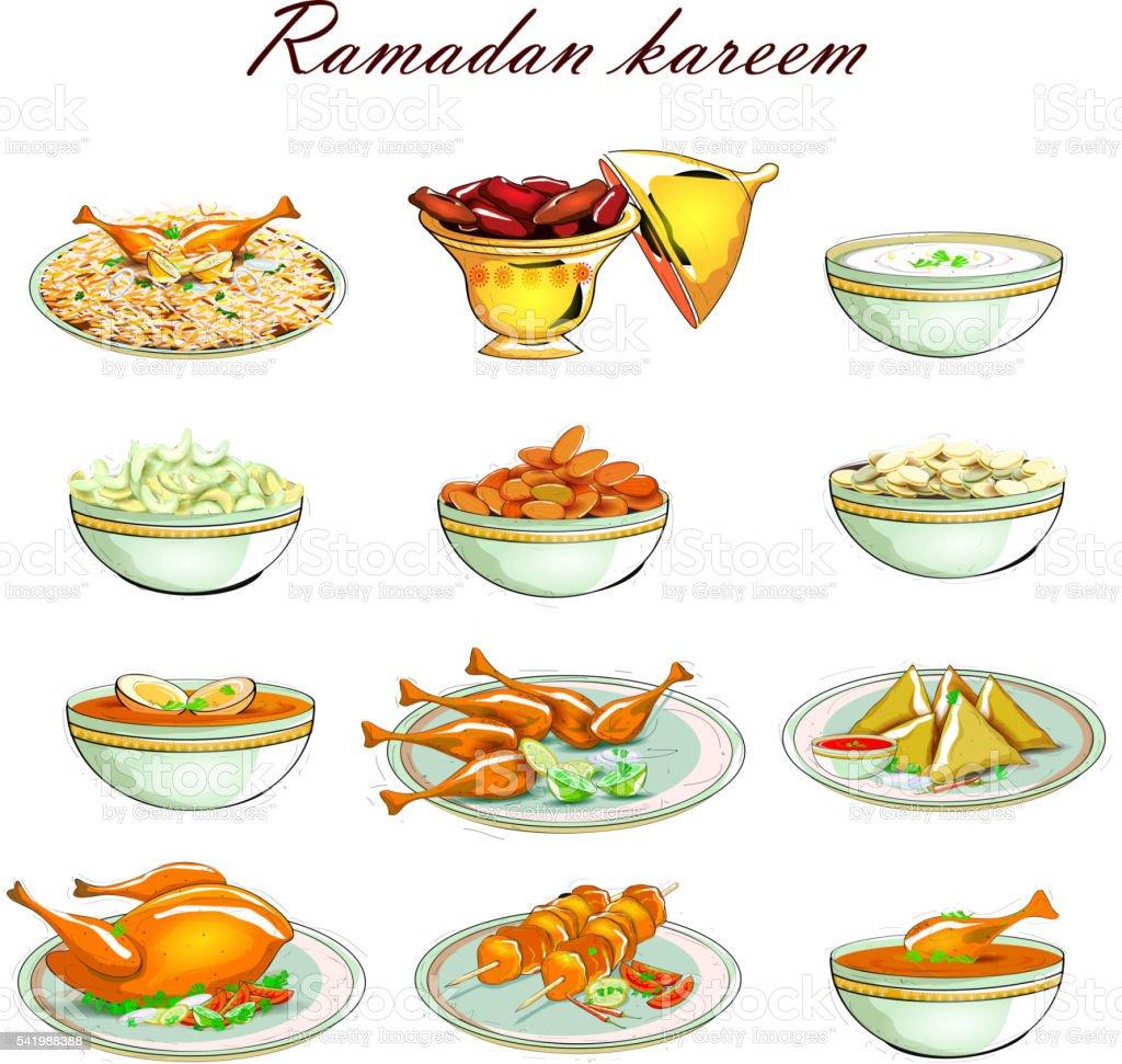 Food Icon For Ramadan Kareem Stock Vector Art  for Ramadan Iftar Clipart  173lyp
