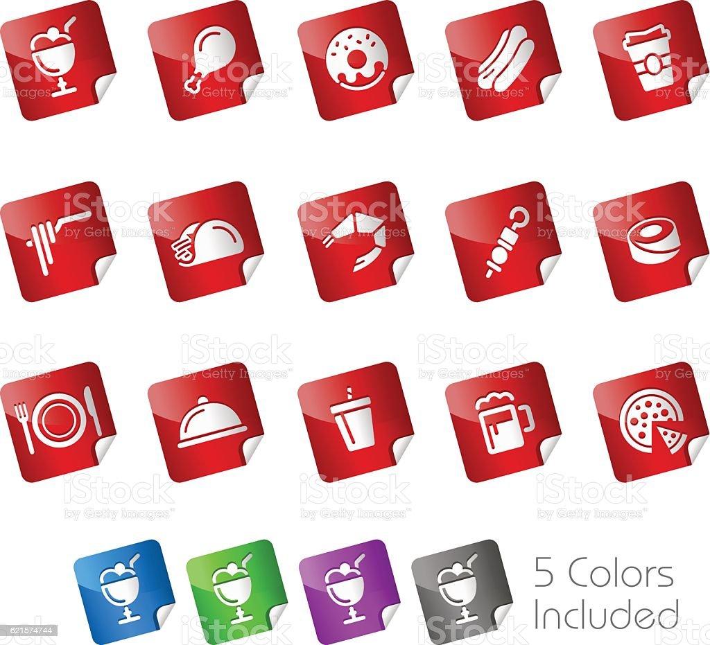 Food Icon Set 2 // Stickers Series food icon set 2 stickers series – cliparts vectoriels et plus d'images de aile de poulet libre de droits