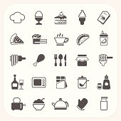 Food icon set against white background