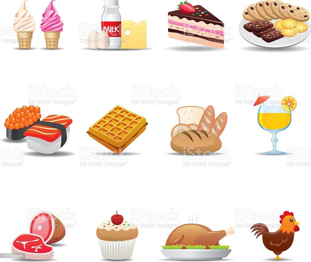 Food Icon Set | Elegant Series vector art illustration