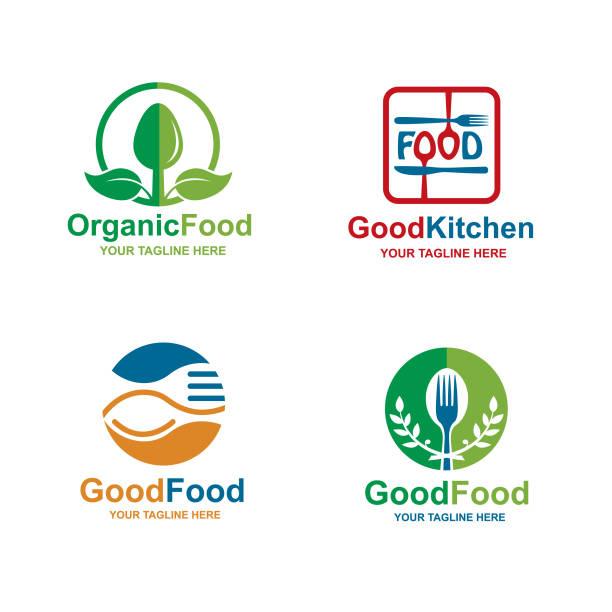 フードアイコンセット - レストランのロゴ点のイラスト素材/クリップアート素材/マンガ素材/アイコン素材