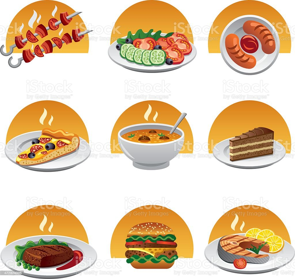 food icon set royalty-free food icon set stock vector art & more images of beef